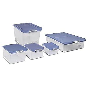 Tatay caja de almacenamiento bajo cama con ruedas 63 l de for Cajas bajo cama carrefour