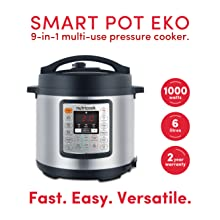 Nutricook Smart Pot Eko by Nutribullet- 9 in 1 Instant Programmable Electric Pressure Cooker