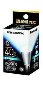 パナソニック LED電球 口金直径17mm 電球40W形相当 昼光色相当(6.4W) 小形電球・下方向タイプ 調光器対応 密閉形器具対応 LDA6DE17D