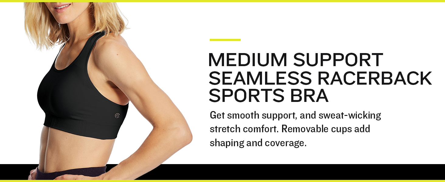 Details about  /Champion Seamless support Duo Dry removable cups Rose Ranch XL XXL athletic bra