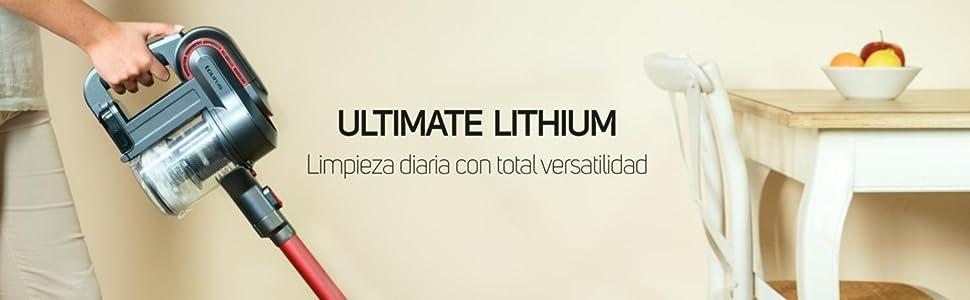 Taurus Ultimate Lithium - Aspirador escoba (filtración HEPA, 22.2 V, deposito con 650 ml, filtraje Cyclone System), Multicolor, autonomía de 40 minutos: Taurus: Amazon.es: Hogar