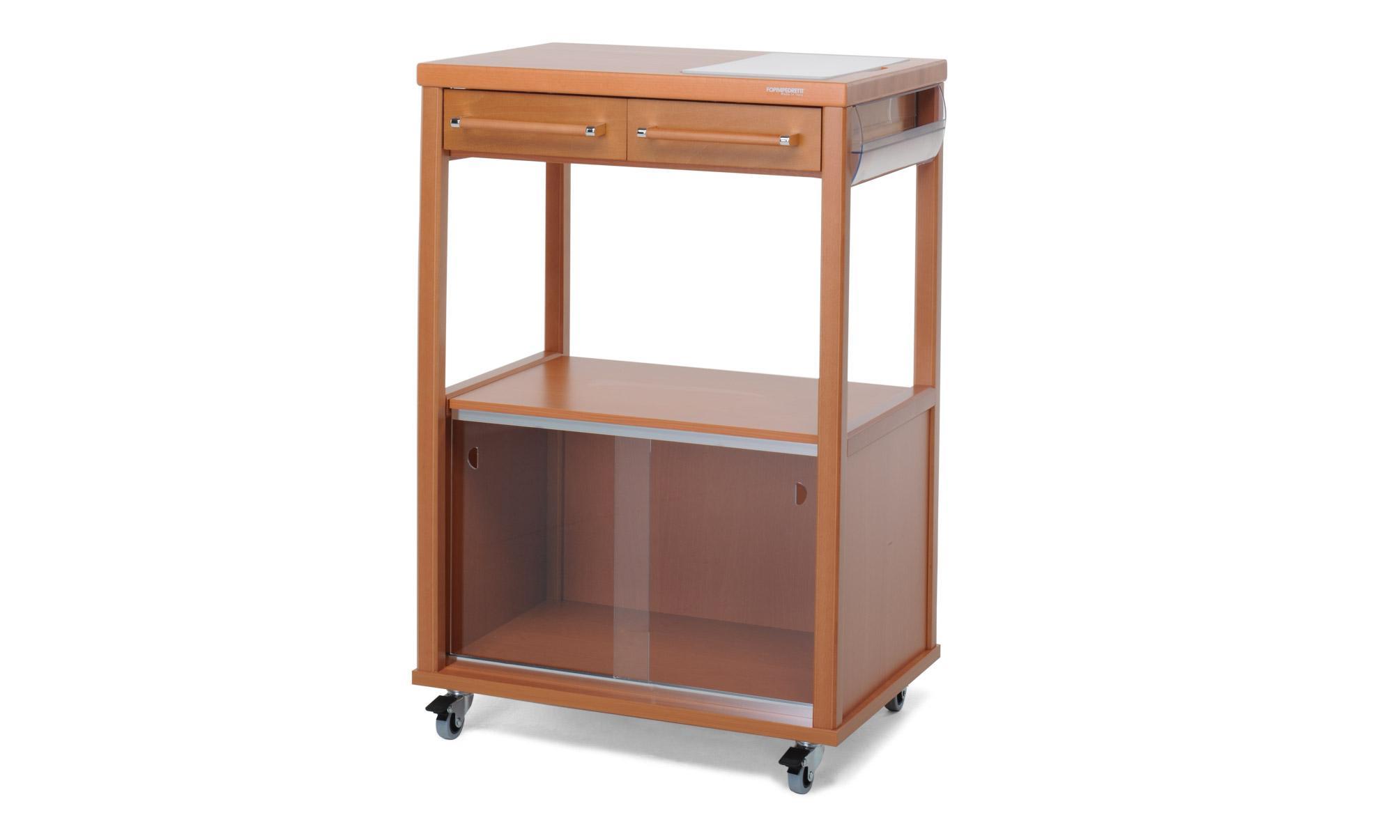 Foppapedretti benchef carrello noce casa e cucina - Mobile porta forno microonde ...