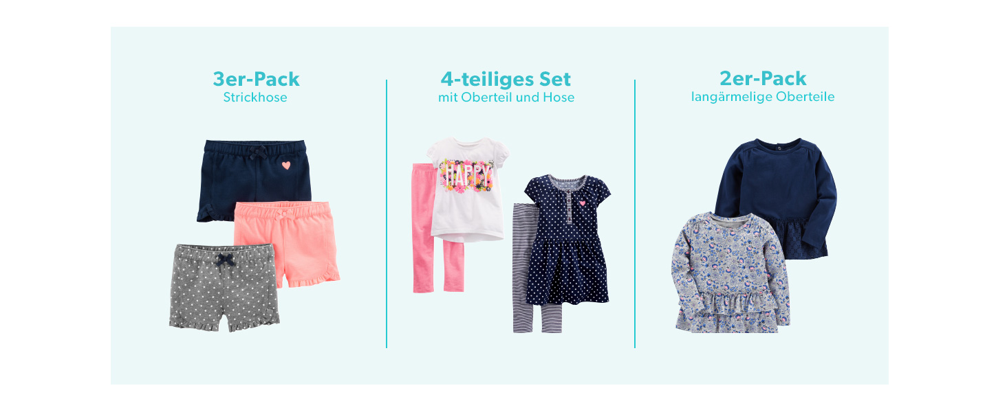 6-9 Months Ballerina//Moon//Bee Simple Joys by Carters infant-and-toddler-pajama-sets