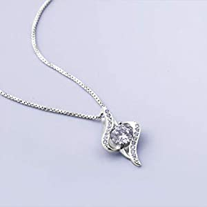 Swarovski Elements 925 Sterling Silver Pendant Necklace