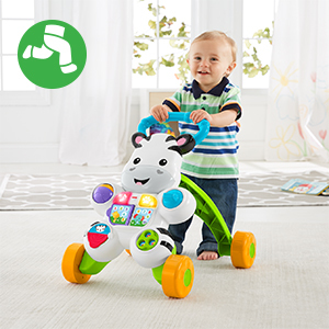 Fisher-Price-DLF00 Zebra de Juguete, Multicolor (Mattel 900 DLF00)