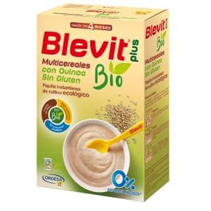 Blevit Plus Papilla Multicereales Quinoa Bio 1 Unidad 250 g , 100% ecológicas. A partir de los 5 meses.