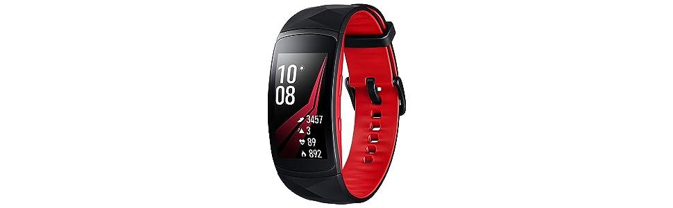SM-R365NZKAPHE, SM-R365NZ, Gear Fit2 Pro, pulsera fitness resistente al agua, 5 ATM, 50 metros, Gear