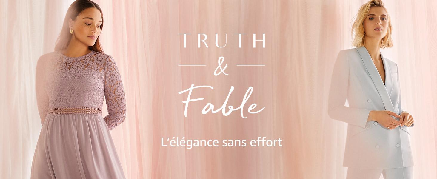 Marque TRUTH /& FABLE Mini Robe Trap/èze en Dentelle Femme