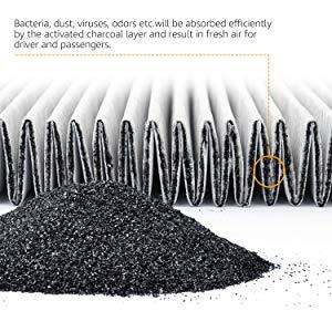 AmazonBasics - Filtro de aire para vehículos, 25,3 x 22,5 x 2 cm: Amazon.es: Coche y moto