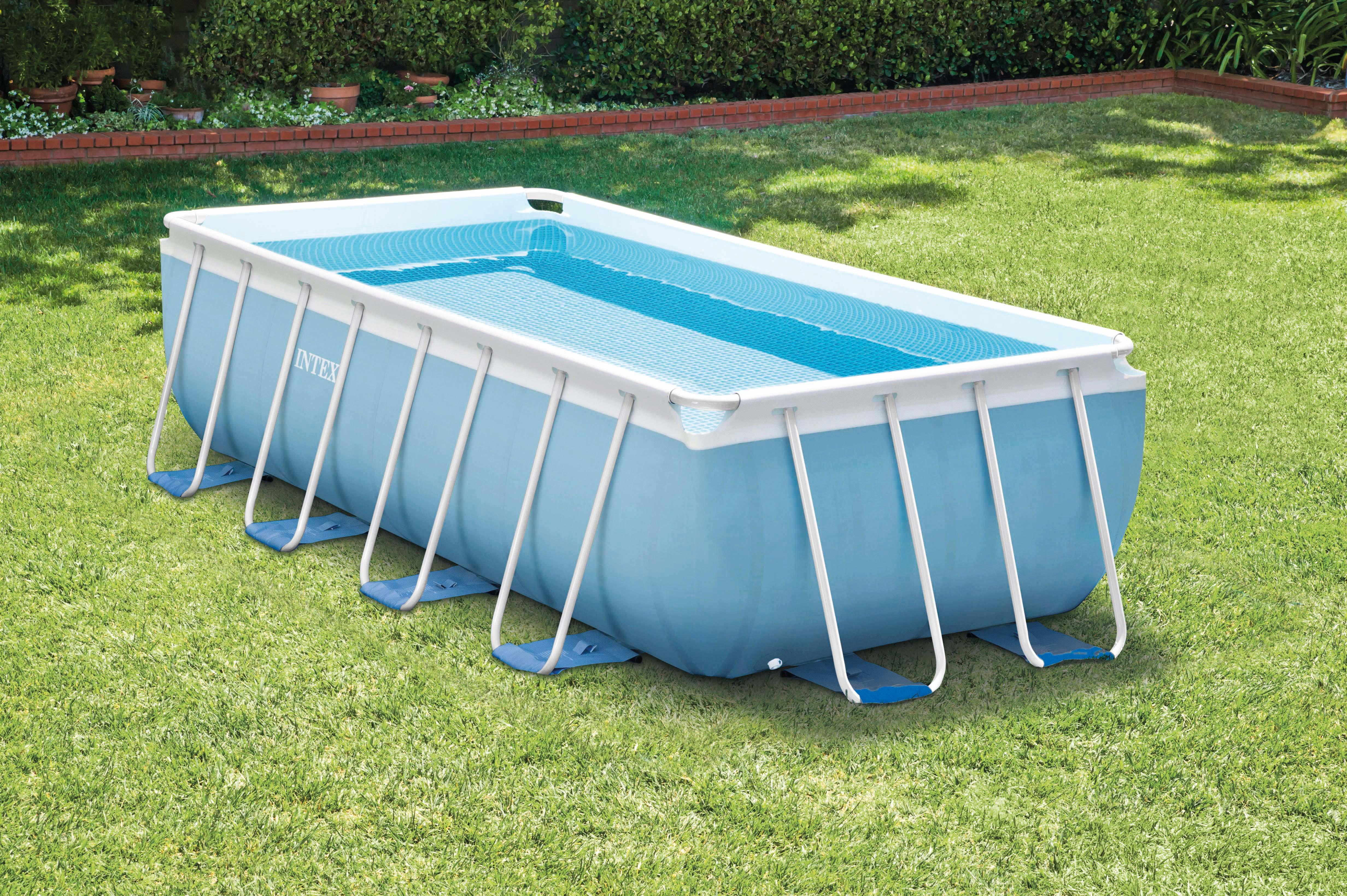 Intex 28316 piscina prisma frame 400x200x100 cm con pompa for Piscine intex amazon