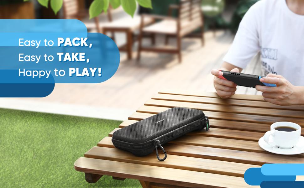 UGREEN Shockproof Case for Nintendo Switch,Travel Carrying Case Bag with Carved soft Liner