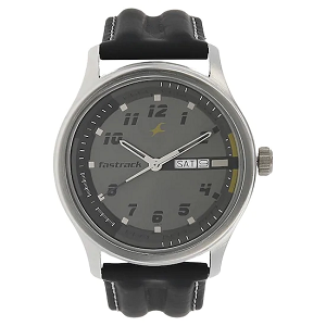 Fastrack Black Dial Stainless Steel Strap Watch