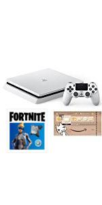 PlayStation 4 グレイシャー・ホワイト 500GB Fortniteバンドル(CUH-2200AB02) (Amazon限定特典付)