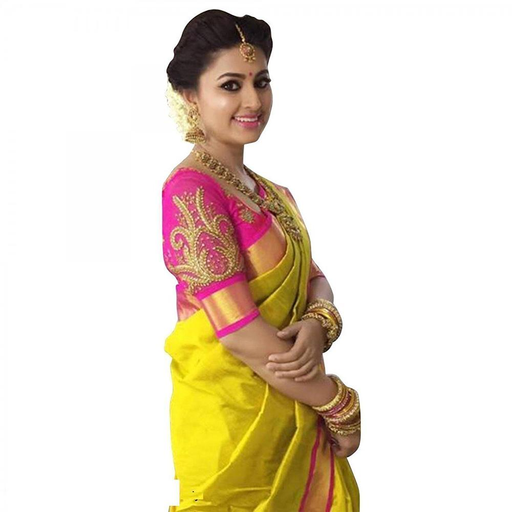 purvi fashion Cotton Silk Saree With Blouse Piece (Sneha-Ind ...