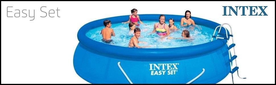 Intex 28202 easy set piscina fuoriterra diametro 457 cm for Piscina intex 5 metros diametro