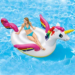 Intex 57561NP - Unicornio hinchable tamaño mediano 198x140x97 cm