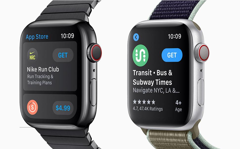 Apple Watch Series 5 - 40mm Space Grey Aluminium Case with Black Sport Band, GPS, watchOS 6, MWV82AE