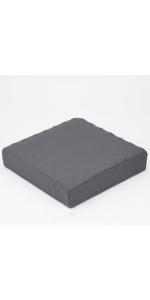 昭和西川 ムアツ クッション 2フォーム グレー 7×40×40cm 凹凸構造 2220406500937
