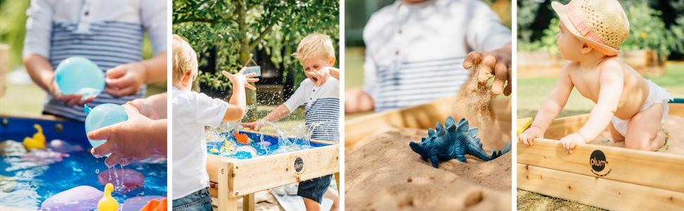 sand, square, sandpit, wooden, bench, child sandpit, toddler sandpit, wood, wooden bench, play,