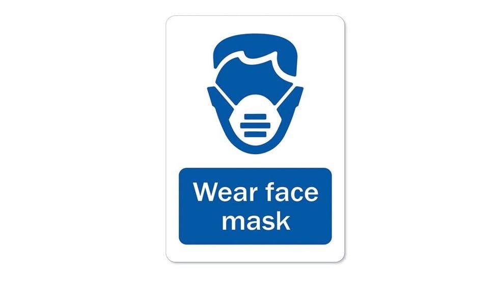 Wear Facemask Sticker Business Sign Rose Gold Silver Sticker VARIETY