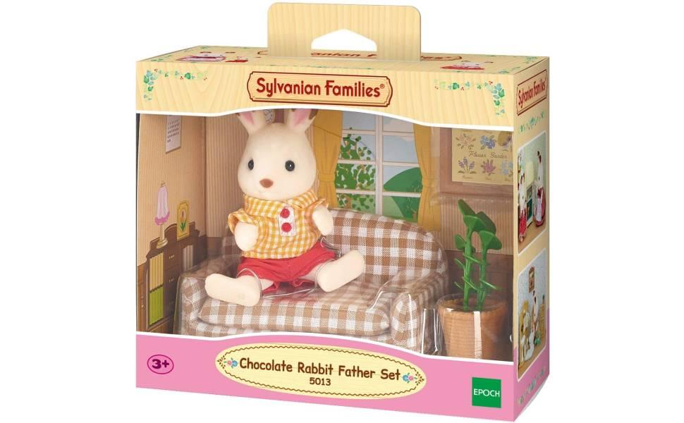 Sylvanian Families Chocolate Rabbit Father Set Pretend Play