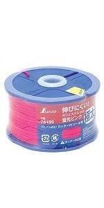 シンワ測定 ポリエステル水糸 リール巻 蛍光ピンク 極太 1.2mm 120m 78499