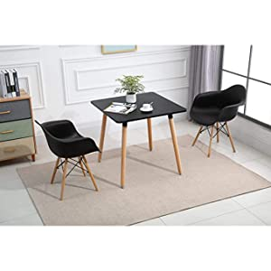 Mahmayi Cenare Dining Set (Dining Table With 2 X Plastic Chair)