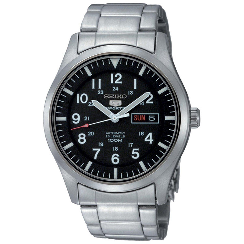 060ed7e8bc11 Seiko Reloj Analógico Automático para Hombre con Correa de Acero Inoxidable