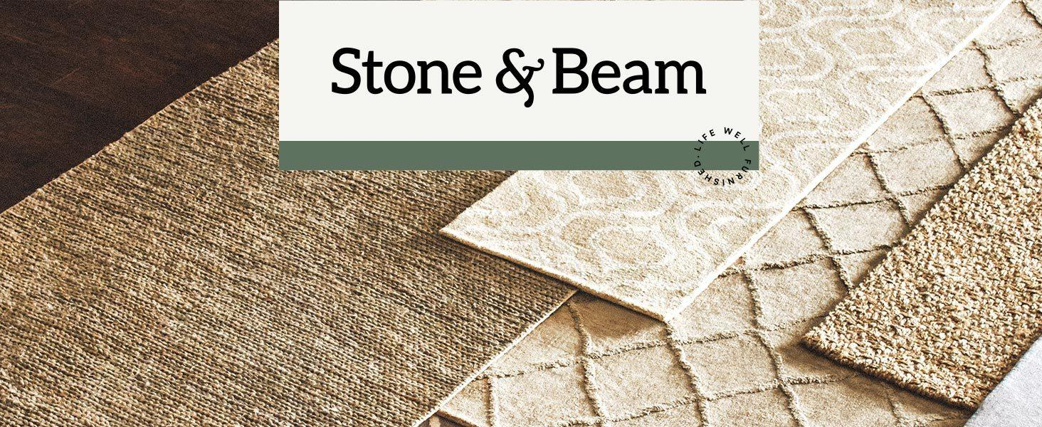 amazon com stone u0026 beam contemporary mode tone wool rug 8 u0027 x 10