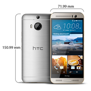 HTC One M9+ - 32GB, 3GB RAM, 4G LTE, WiFi, Gold on Silver