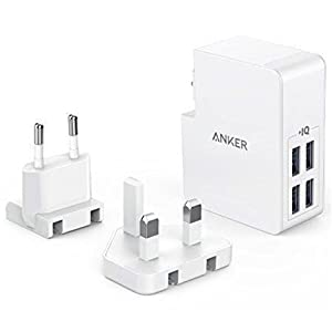 USB Charger Anker 27W 4-Port USB Wall Charger PowerPort 4