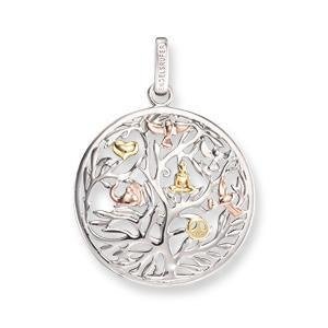 Engelsrufer Pendentif en argent rhodi/é 925//1000 Motif floral