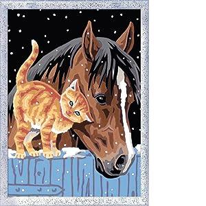 Ravensburger Malen Nach Zahlen 28556 Fohlen Mit Kätzchen Malset