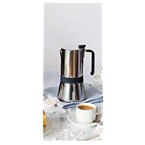 Monix 2 Aroma-Cafetera Italiana, Acero Inoxidable, 18/10, 6 Tazas ...