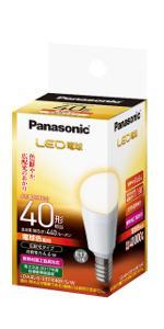 パナソニック LED電球 口金直径17mm 電球40W形相当 電球色相当(4.4W) 小型電球・広配光タイプ 1個入 密閉形器具対応 LDA4LGE17K40ESW