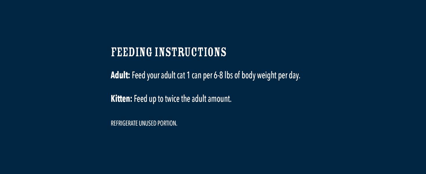 Feeding Instructions