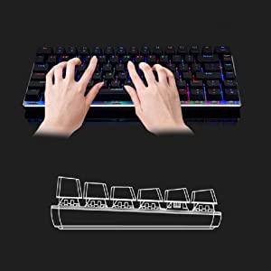 Ajazz AK33 82 keys mechanical keyboard English layout gaming keyboard