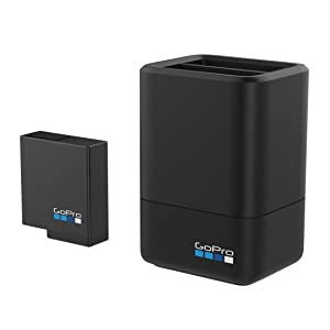 GoPro AADBD-001-ES - Cargador de batería dual y batería, color negro