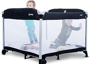 Amazon Com Joovy New Room2 Portable Playard Black Baby