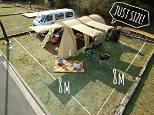 DOPPELGANGER(ドッペルギャンガー) アウトドア カマボコテント2 設営簡単 4~5人用 T5-489 日本のキャンプサイトに合わせて設計されたサイズ