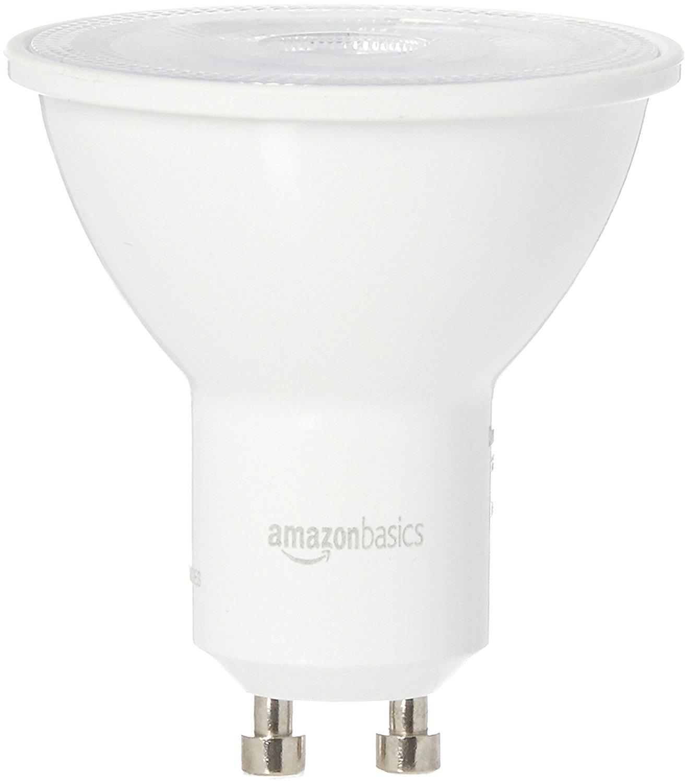 amazonbasics 50 watt equivalent bright white dimmable gu10 led light bulb 6. Black Bedroom Furniture Sets. Home Design Ideas