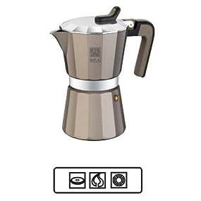 BRA Titanium - Cafetera, Capacidad 12 Tazas, Aluminio: Amazon.es ...