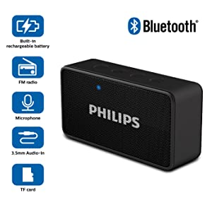 Philips bt64b portable bluetooth speakers for F d portable bluetooth speakers