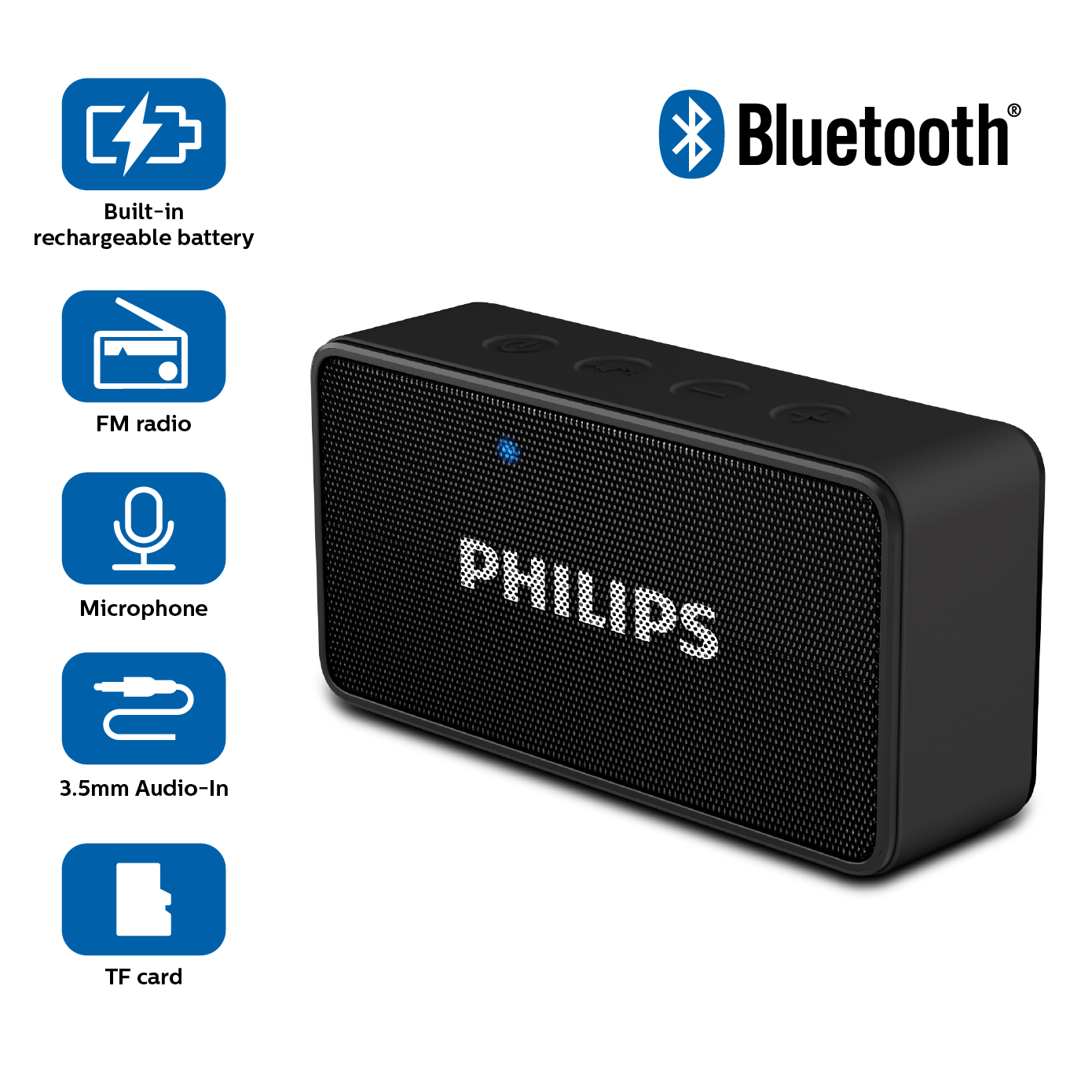 Philips BT64R Portable Bluetooth Speakers: Amazon.in: Electronics