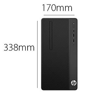 HP 290 G1 Micro Tower PC- Intel Core i3-7100, 3 9 GHz, 18 5 Inch