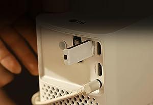 LG HF80JG - Proyector láser TV portátil Full HD 1080 (Pantalla de 40 Pulgadas a 120 Pulgadas, 2000 lúmenes, Alto Contraste 150.000:1 y hasta 15 años de Vida útil en la lampara): Lg: Amazon.es: Electrónica