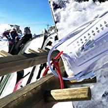 ski, snowboard, snowboard lock, ski lock, snow sport