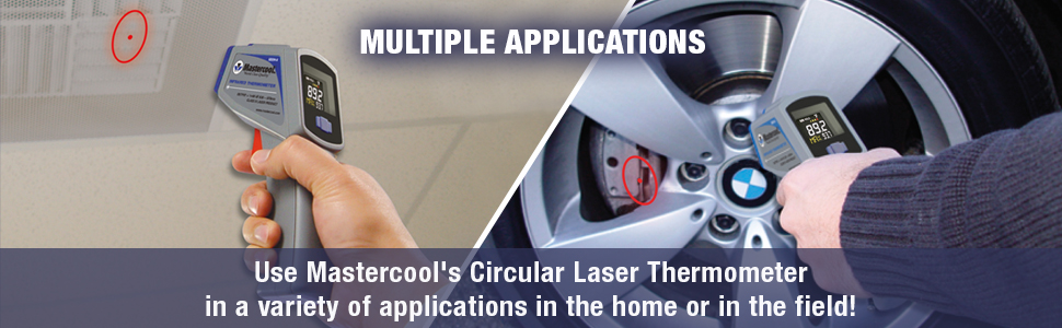 mastercool infrared thermometer with laser multiple applications in the home or field