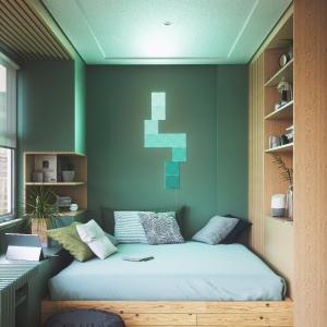 Nanoleaf canvas - Square Modular LED lights panel expansion- Home decor Touch, Voice