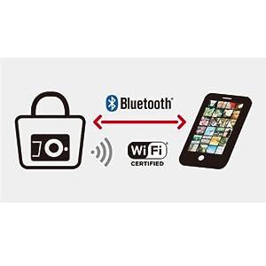 Wi-Fi・Bluetooth内蔵 お気に入りが撮れたらすぐスマートフォンへ転送
